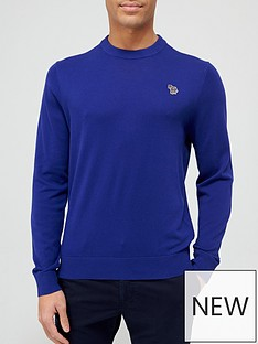 ps-paul-smith-zebra-logo-knitted-jumper-blue