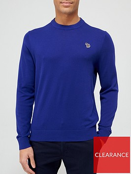 ps-paul-smith-zebra-logo-knitted-jumper-blue