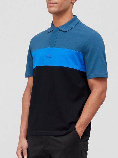 ps-paul-smith-colour-block-logo-polo-shirt-blueblack