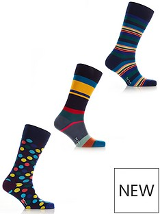 ps-paul-smith-mensnbsp3-pack-mixed-stripes-amp-dots-socks--nbspmulti