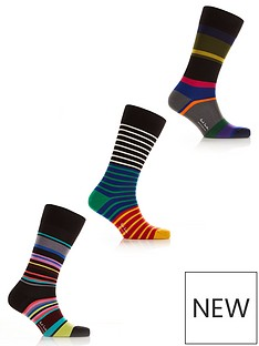 ps-paul-smith-mensnbsp3-pack-mixed-stripes-socks--nbspmulti
