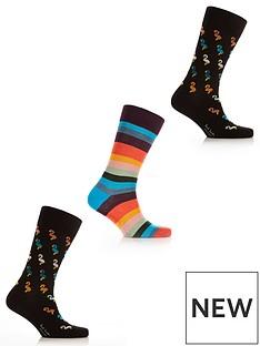 ps-paul-smith-mensnbsp3-pack-flamingo-amp-stripes-socks-multi