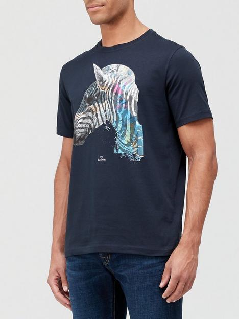 ps-paul-smith-zebra-head-print-t-shirt-black