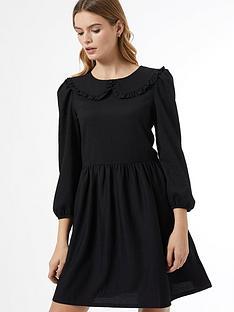 dorothy-perkins-fochette-collarednbspfit-and-flare-dress-blacknbsp