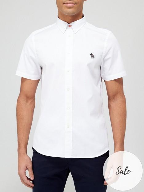 ps-paul-smith-zebra-logo-short-sleeve-oxford-shirt-white