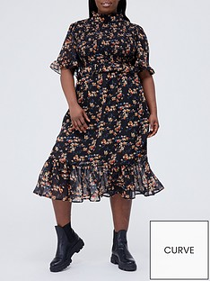 missguided-plus-missguided-plus-floral-high-neck-midi-dress-blacknbsp