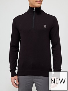 ps-paul-smith-zebra-logo-14-zip-knitted-jumper-black