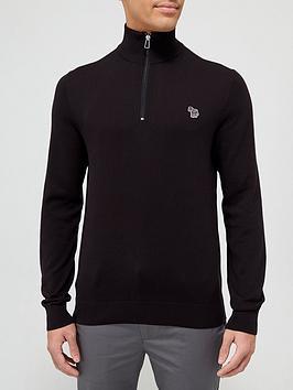 ps-paul-smith-zebra-logo-14-zip-knitted-jumper-black