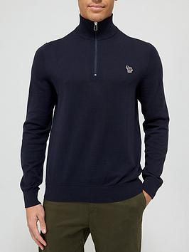 ps-paul-smith-zebra-logo-14-zip-knitted-jumper-navy