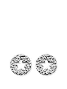 chlobo-chlobo-sterling-silver-sparkle-star-in-circle-earrings