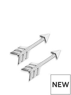 chlobo-chlobo-sterling-silver-arrow-cuff-earrings