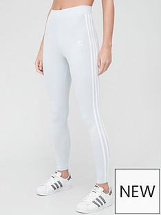 adidas-originals-3-stripe-leggings-light-blue