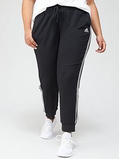 adidas-plus-3-stripes-cuffed-pant-blackwhite
