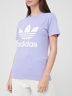 adidas-originals-trefoil-t-shirtnbsp--lilac