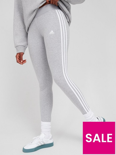 adidas-essentials-3-stripes-legging-greywhite