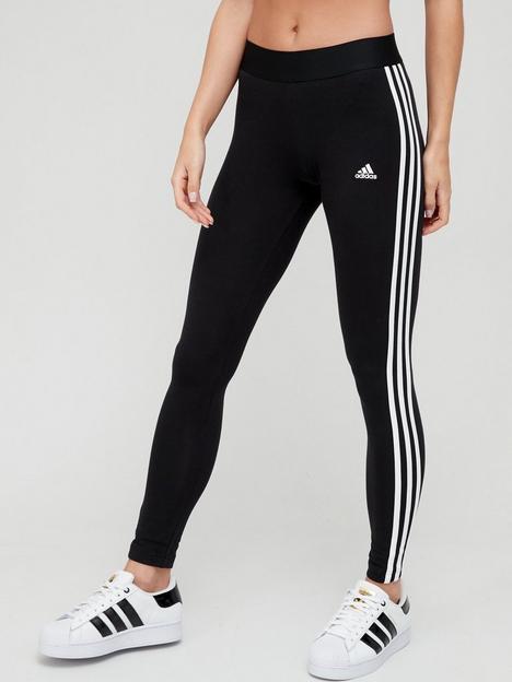 adidas-essentials-3-stripe-leggings-black