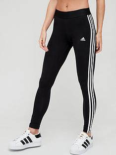 adidas-essentials-3-stripe-leggings-black