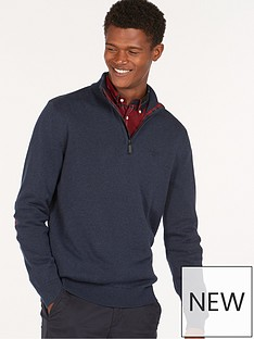 barbour-barbour-avoch-half-zip-knitwear-with-tartan-patches