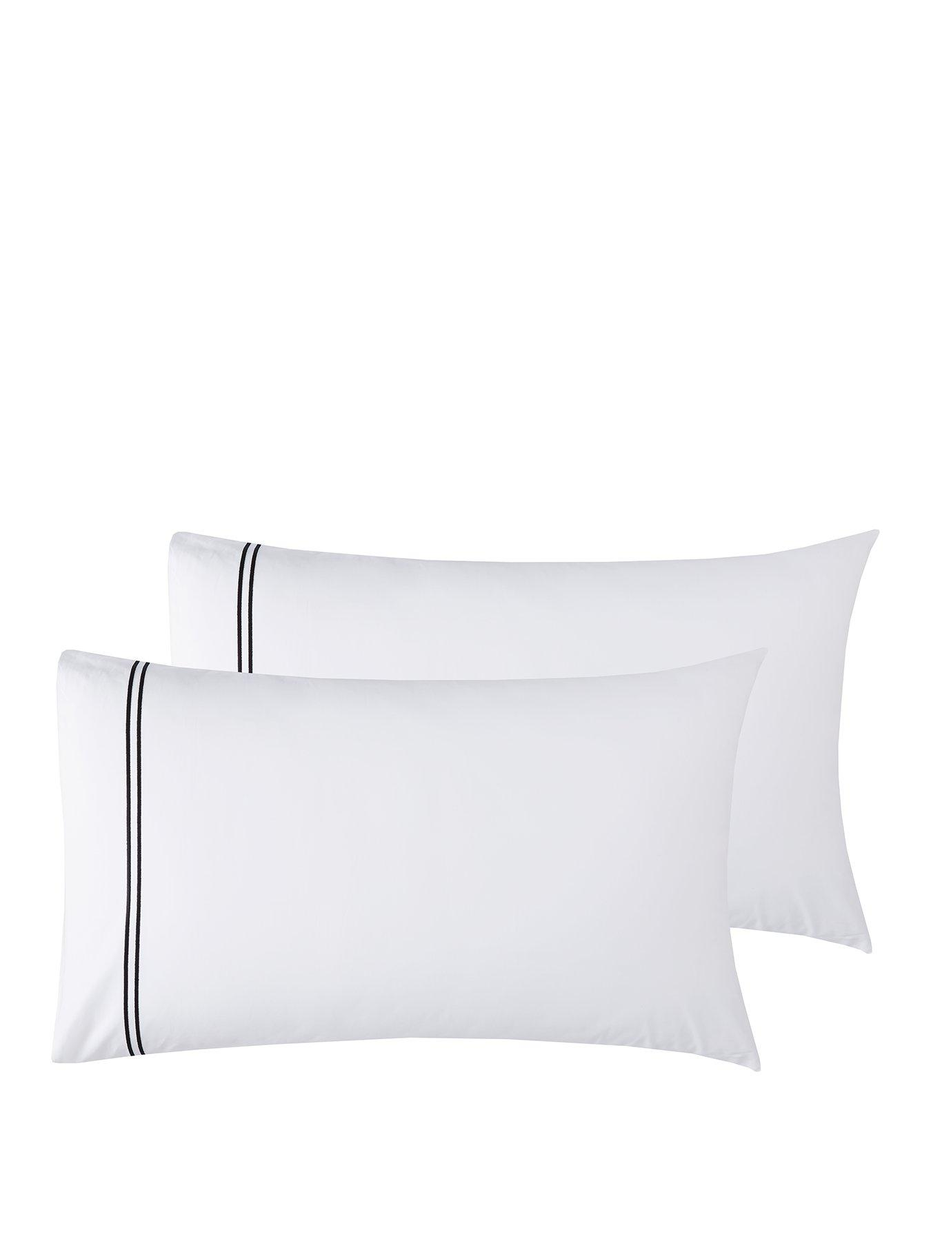 Hotel Collection 300Tc Stitching Set Of 2 Standard Pillowcases