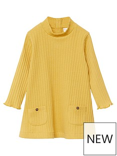 mango-baby-girls-ribbed-knitted-dress-mustard