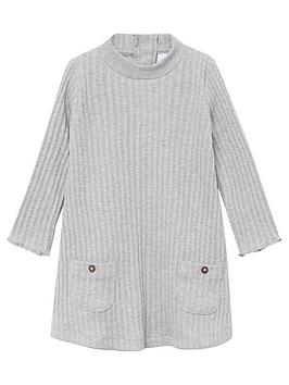 mango-baby-girls-ribbed-knitted-dress-grey
