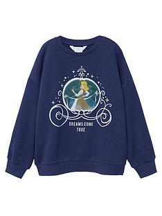 mango-girls-cinderella-sweat-top-navy