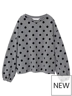 mango-girls-polka-dot-long-sleeve-t-shirt-grey