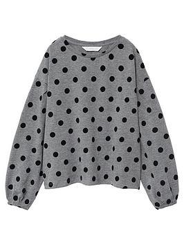 mango-girls-polka-dot-long-sleeve-t-shirt-grey