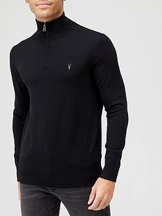 allsaints-kilburn-14-zip-funnel-knit-jumper-black