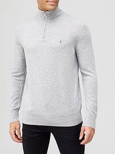 allsaints-kilburn-14-zip-funnel-knit-jumper-grey