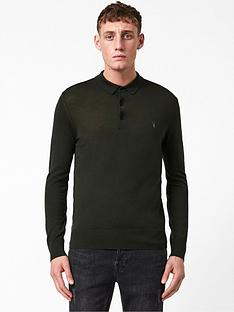 allsaints-mode-merino-wool-knitted-long-sleeve-polo-shirt-khaki