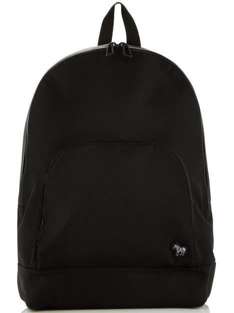 ps-paul-smith-mens-zebra-logo-backpack-black
