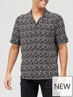 allsaints-vinyl-printed-short-sleeve-shirt-black