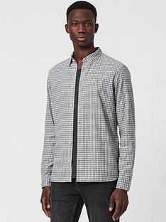 allsaints-kiosk-mini-check-shirt-grey
