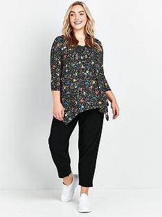 evans-animal-flower-pintuck-top-multi