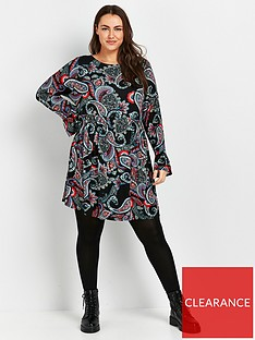 evans-paisley-jersey-print-dress-multi
