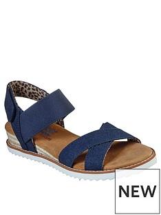 skechers-desert-kiss-linen-cross-strap-sandal-wedge-sandal-navy