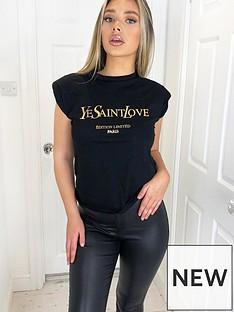 ax-paris-padded-shoulder-printed-t-shirt-black