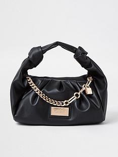 river-island-scrunch-chain-detail-shoulder-bag-black