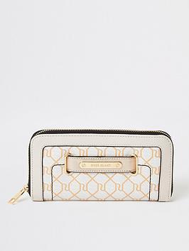 river-island-monogram-zip-around-purse-beige
