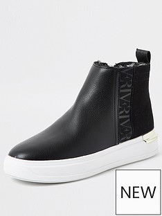 river-island-high-top-trainer-black