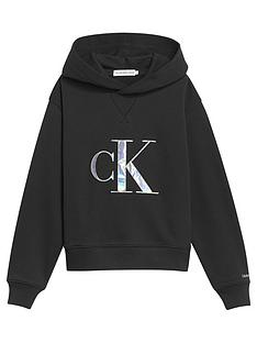 calvin-klein-jeans-girls-monogram-applique-hoodie-black