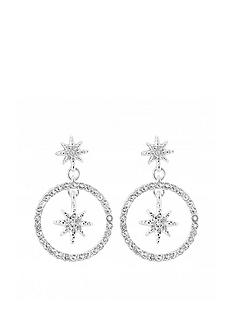 mood-silver-plated-star-front-facing-drop-earrings
