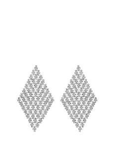 mood-silver-plated-diamante-diamond-shape-earrings