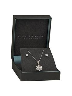 simply-silver-sterling-silver-cubic-zirconia-snowflake-jewellery-set