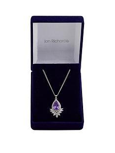 jon-richard-rhodium-plated-tanzanite-peardrop-necklace