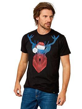 joe-browns-santa-stag-t-shirt-blacknbsp