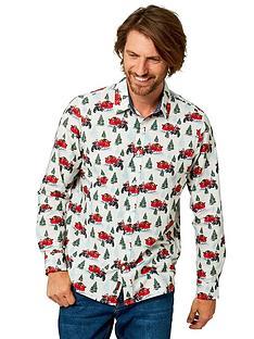 joe-browns-on-ya-bike-santa-shirt-whitenbsp