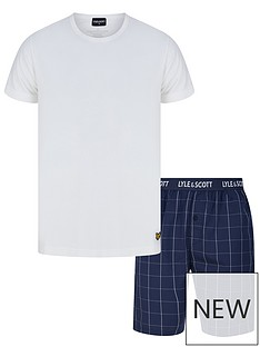 lyle-scott-kyle-lounge-set-with-woven-shorts-check