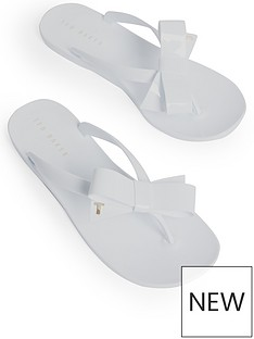 ted-baker-bow-detail-jelly-flip-flop